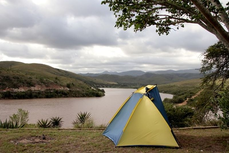 Small Tent at a Dam