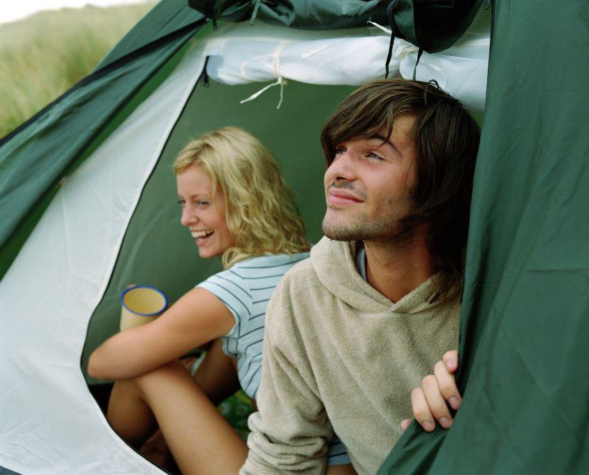 Campen im Zelt