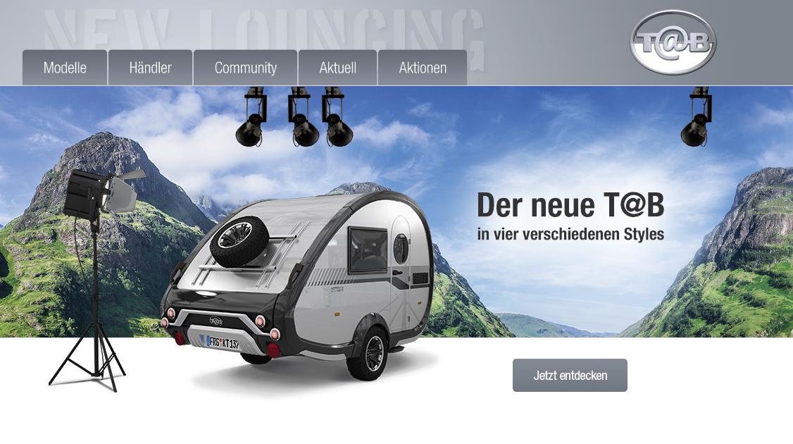 Der T@B Caravan: Damit fällt man garantiert auf jedem Campingplatz auf
